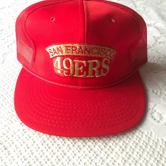Vintage San Francisco 49ers Hat Mesh Trucker Red. M 5c0695f7c2e9fee846e47add 708903874